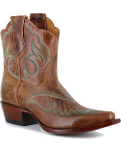 Shyanne Women's Embroidered Western Booties - Snip Toe, , hi-res