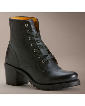 Frye Sabrina 6G Lace Up Boots, Black, hi-res
