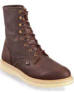 "Justin Original Wedge 8"" Lace-Up Work Boots, , hi-res"