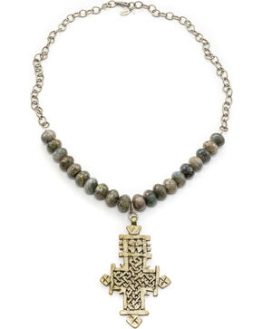 Julio Designs Doña Fortuna Wallflower Labradorite Necklace, Smoke Grey, hi-res