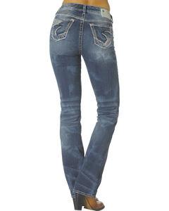 "Silver Mid-Rise Suki Bootcut Jeans - 33"" Inseam, , hi-res"