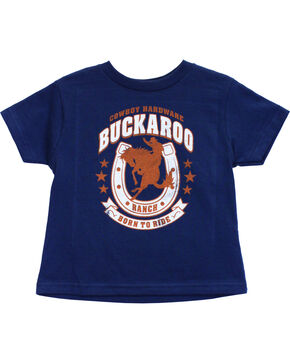 Cowboy Hardware Toddler Boys' Buckaroo Ranch Short Sleeve Tee (6MO-4T), Navy, hi-res