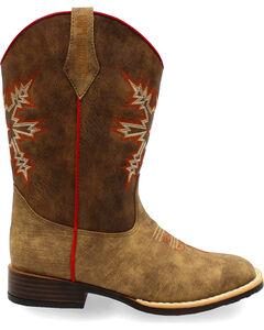 Double Barrel Boys' Clay Western Boots - Square Toe , , hi-res