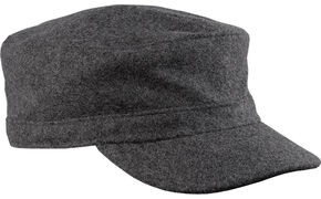 Stormy Kromer Men's Flat Top Cap, Charcoal Grey, hi-res