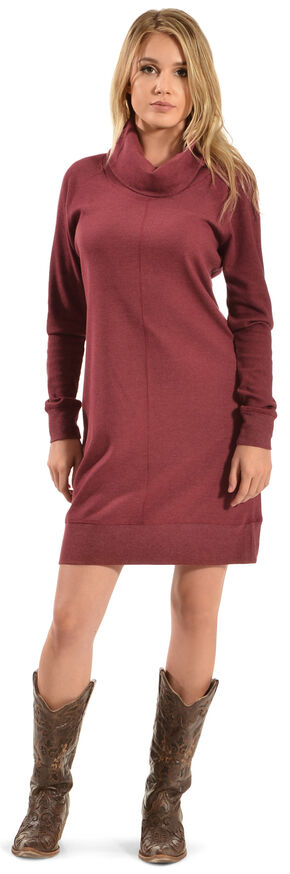 Woolrich Women's Fairmount Waffle Dress, Ruby, hi-res