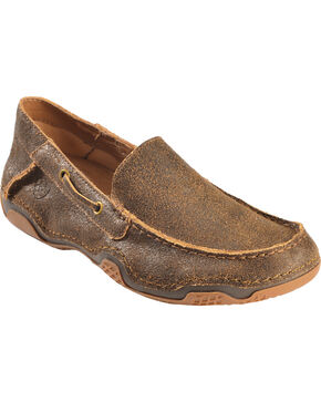 Ariat Gleeson Casual Slip-On Shoes, Wood, hi-res
