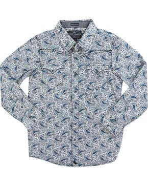 Cody James Calico Paisley Long Sleeve Shirt, Navy, hi-res