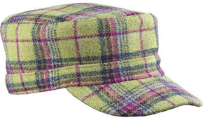 Stormy Kromer Men's Flat Top Cap, Green, hi-res