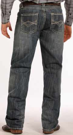 Tuf Cooper Performance Competition Fit Medium Wash Diamond Jeans - Straight Leg , , hi-res