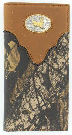 Nocona Mossy Oak Buck Concho Rodeo Wallet, , hi-res