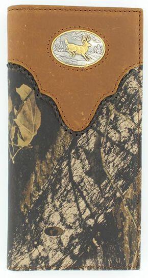 Nocona Mossy Oak Buck Concho Rodeo Wallet, Mossy Oak, hi-res