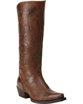Ariat Lyric Cowgirl Riding Boots - Snip Toe, Brown, hi-res