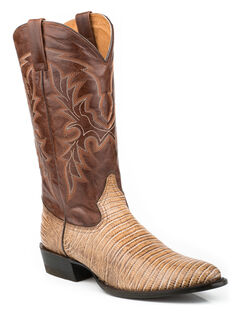 Roper Men's Faux Teju Lizard Mad Dog Goat Cowboy Boots - Medium Toe, , hi-res
