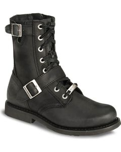 Harley Davidson Ranger Lace-Up Buckle Boots, , hi-res