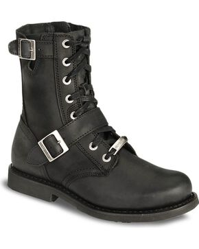 Harley Davidson Ranger Lace-Up Buckle Boots, Black, hi-res