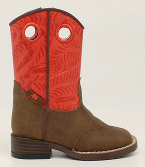 Double Barrel Toddler Boys' Sam Cowboy Boots - Square Toe, Brown, hi-res
