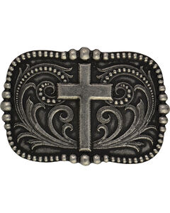 Montana Silversmiths Cross Over Pinpoint Filigree Classic Attitude Buckle, , hi-res