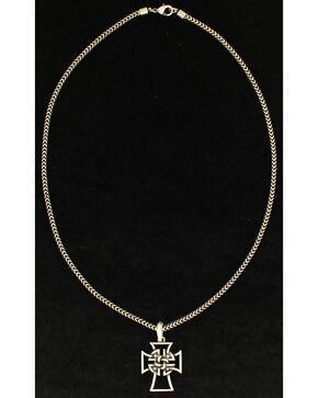 Twister Men's Celtic Cross Necklace, Silver, hi-res
