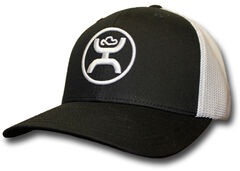 HOOey Men's Black and White Cody Ohl Signature Hat  , , hi-res