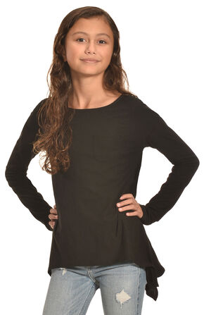 Derek Heart Girls' Solid Black Super Soft Yummy Tunic, Black, hi-res