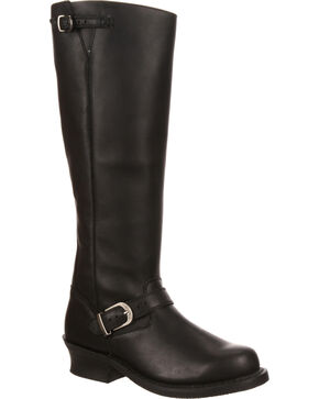 Durango Women's City Soho Engineer Riding Boots, Black, hi-res