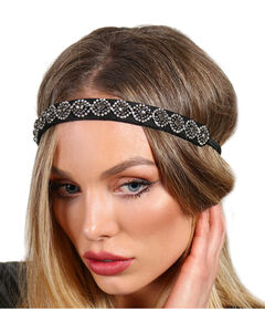 Shyanne® Women's Rhinestone Headband, Silver, hi-res