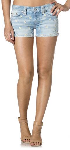 Miss Me Daisy Denim Shorts, , hi-res