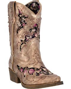 Laredo Girls' Sabre Western Boots - Snip Toe, , hi-res