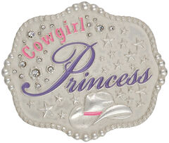 Montana Silversmiths Kids' Cowgirl Princess Attitude Belt Buckle, , hi-res
