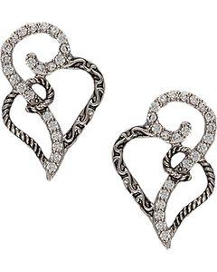 Montana Silversmiths Woven Hearts Earrings, , hi-res