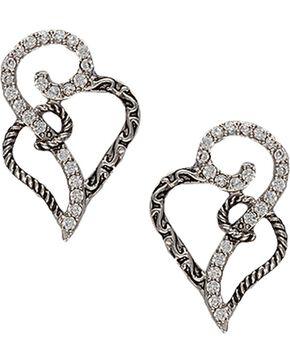 Montana Silversmiths Woven Hearts Earrings, Silver, hi-res