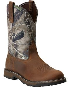 Ariat Groundbreaker Camo Pull-On Work Boots - Round Toe, , hi-res