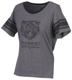 Browning Women's Gardenia Grey Short Sleeve Shirt, Grey, hi-res