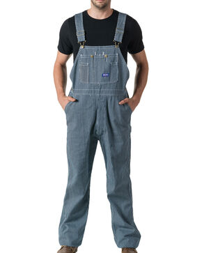 Walls Big Smith Men's Hickory Stripe Bib Overall, Indigo, hi-res