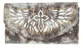 Blazin Roxx Cross with Wings Wallet, Black, hi-res