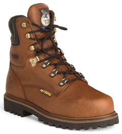 "Georgia 8"" Lace-Up Work Boots - Steel Toe, , hi-res"