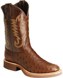 Justin Full Quill Ostrich Cowboy Boots, , hi-res