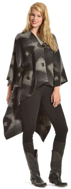 Others Follow Women's Wild Winds Black Print Poncho, , hi-res
