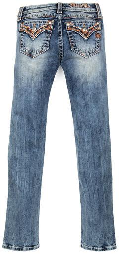 Miss Me Girls' Embellished Flap Skinny Jeans , , hi-res