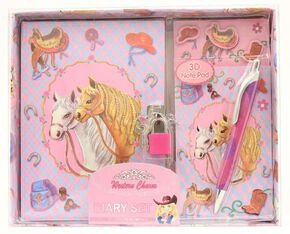 Western Charm Horse Diary Set, Multi, hi-res