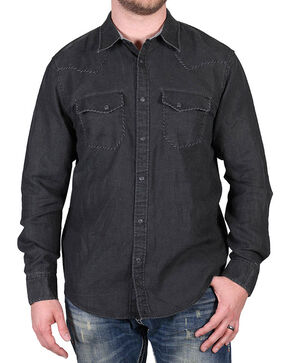 Cody James Men's Black Dartmoor Western Long Sleeve Shirt , Black, hi-res