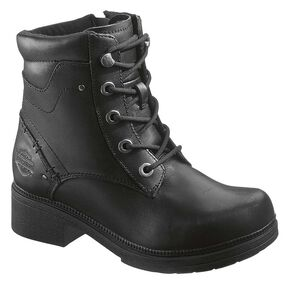 Harley Davidson Elowen Lace-Up Boots, Black, hi-res
