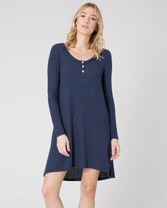 Z Supply Women's Black Iris Marled Navy Sweater Dress , , hi-res