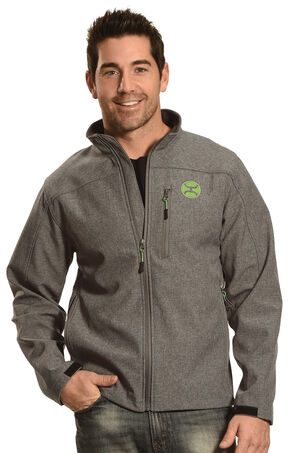 Hooey Men's Charcoal Grey Lime Jacket , Grey, hi-res