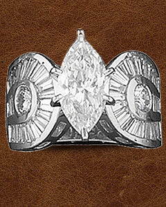 Kelly Herd Sterling Silver Horseshoe & Marquis Ring, , hi-res