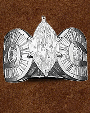Kelly Herd Sterling Silver Horseshoe & Marquis Ring, Silver, hi-res