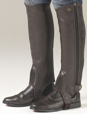 Ovation Women's EquiStretch II Half Chaps, Brown, hi-res