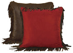 HiEnd Accents Reversible Fringed Euro Pillow Sham, , hi-res