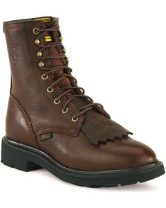 """Ariat Cascade 8"""" Lace-Up Work Boots, Henna, hi-res"""