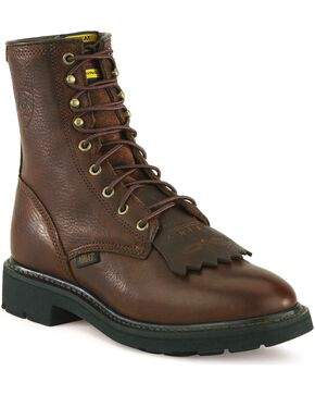 "Ariat Cascade 8"" Lace-Up Work Boots, Henna, hi-res"